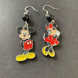 3/$30 Cuties: Mickey & Minnie Mouse Jet Earrings